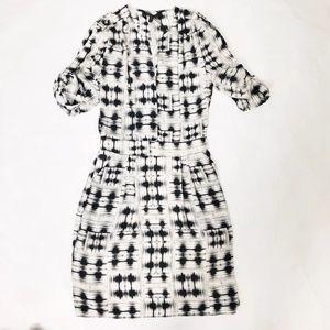 BcbgMaxazria Black and White Florence Tunic Dress